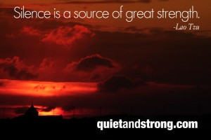 Silence is a source of strength